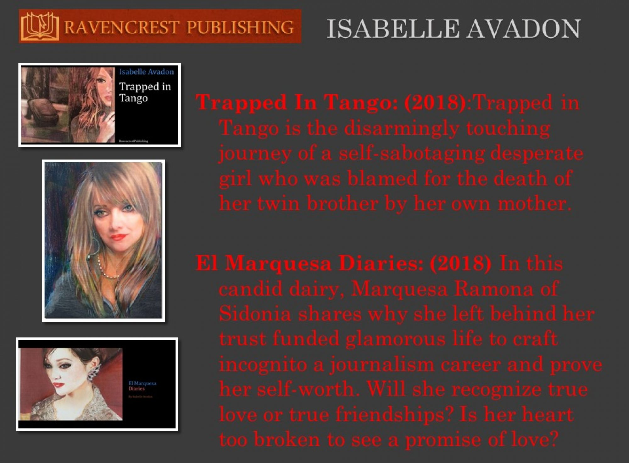 Author Isabelle Avadon
